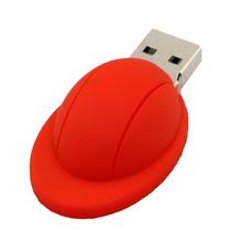 """Флешка Резиновая Каска """"Helmet"""" Q274 красный 16 Гб"""