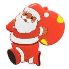 """Флешка Резиновая Дед Мороз """"Santa Claus"""" Avitus Q279 красный 4 Гб"""