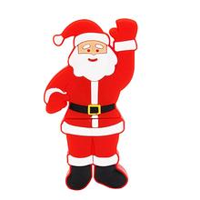 """Флешка Резиновая Дед Мороз """"Santa Claus"""" Brutus Q279 красный 4 Гб"""