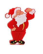 """Флешка Резиновая Дед Мороз """"Santa Claus"""" Darius Q279 красный 4 Гб"""