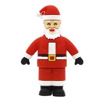 """Флешка Резиновая Дед Мороз """"Santa Claus"""" Velius Q279 красный 4 Гб"""