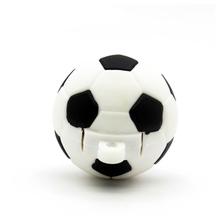 """Флешка Резиновая Футбольный Мяч """"Soccer Ball"""" Q485 черный-белый 16 Гб"""