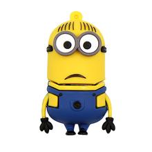 "Флешка Резиновая Миньон Дейв ""Minion Dave"" Q355 желтый-синий 4 Гб"