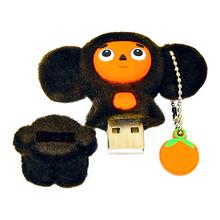 """Флешка Тканевая Чебурашка в апельсинах """"Cheburashka"""" X73 коричневый 16 Гб"""