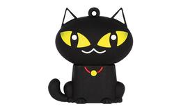 """Флешка Резиновая Черная Кошка """"Black Cat"""" Q392"""